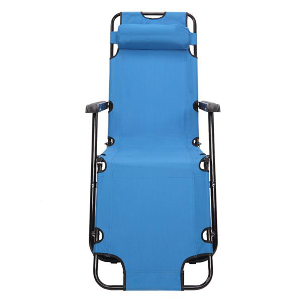 RHC-202 Portable Dual Purposes Extendable Folding Reclining Chair Blue image