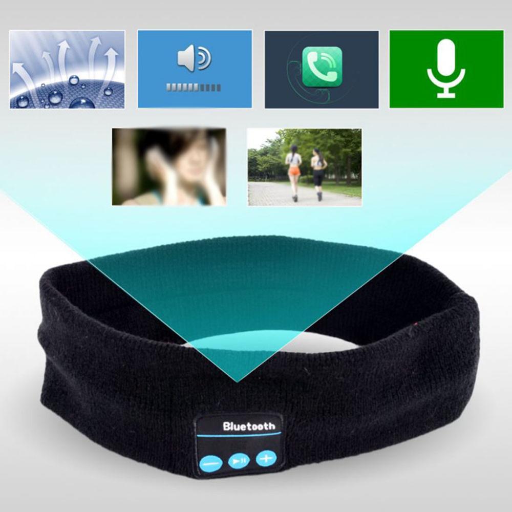 Bluetooth Music Headband Knits Sleeping Headwear Headphone Speaker Headset Yoga Running Breathable Elastic Sport