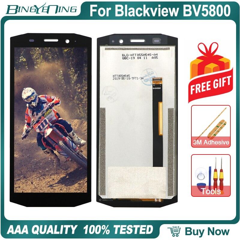 ЖК-дисплей и сенсорный экран с дигитайзером и рамкой для Blackview BV5800/BV 5800 Pro