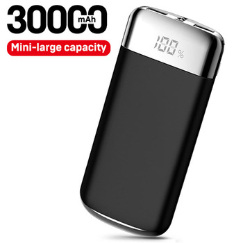 30000mAh Power Bank 2 USB LED Powerbank Portable Mobile phone Charger for Xiaomi MI for iphone X