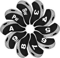 Agemore 10 шт./компл. Изысканная ПУ гольф клуб клюшка для гольфа чехлы на сиденья протектор Гольф головных уборов комплекты железная крышка