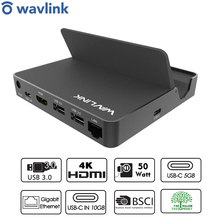 Docking-Station Adapter Universal Wavlink HDMI Usb-C-Hub Gen-1 Power-Delivery 10gbps
