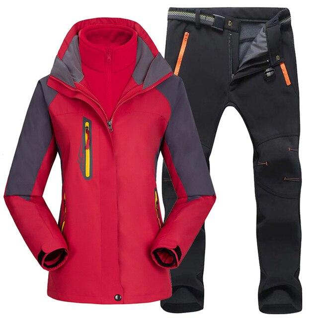 Женский походный тёплый костюм, для лыжных прогулок 6