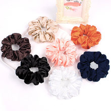 Fashion Chiffon Hair Scrunchies Bobble Solid Color Sports Elastic Dance Headband Rope Women Hair Band Ring Scrunchie Ponytail(China)