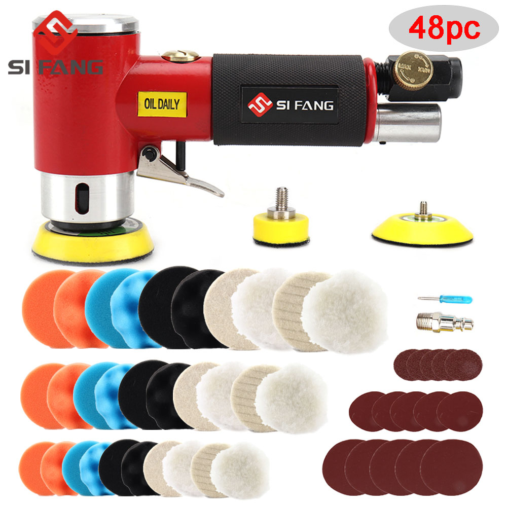 New Orbit Air Sander Mini Pneumatic  1inch 2inch 3inch  Grinding Machine set for Car Polishing High Speed Air Powered  Polisher air tool