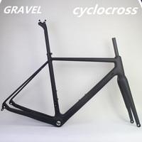 Hot selling 700C*42C GR029 T800 carbon fiber Gravel bike frame Disc Brake cyclocross bike BSA UD Matte carbon road dsic frame
