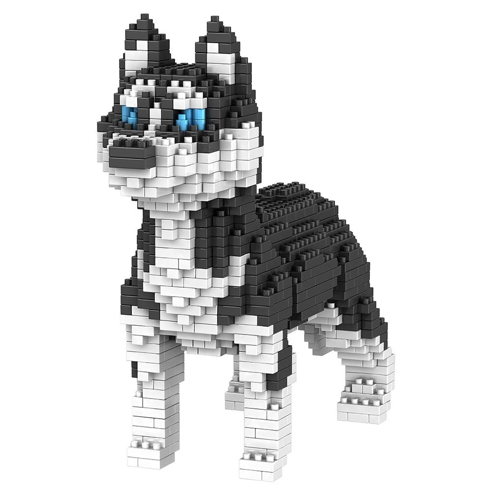Cute Dog Building Blocks Mini Diamond Particles Blocks Bricks Husky Keji Teddy Puppy Compatible Creative DIY Children Toys Block