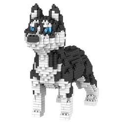 Dog Building Blocks Mini Diamond Particles Blocks Bricks Husky Keji Teddy Compatible Legoing Creative DIY Children Toys Block