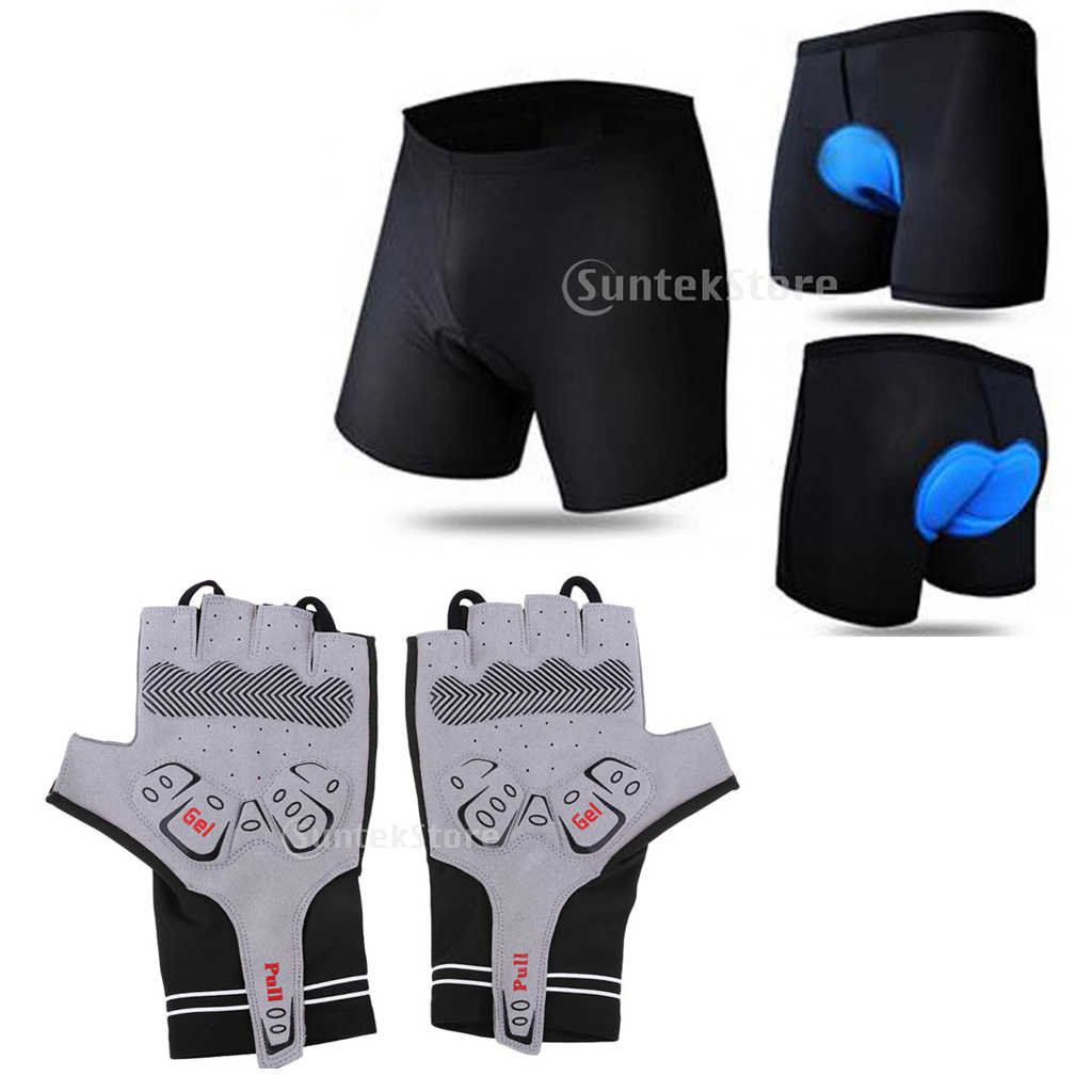 Bike Gel 3D Bicycle Cycling Equipment Riding Shorts Padded Pants Men Underwear