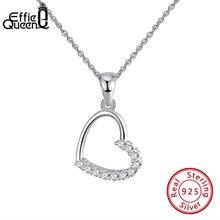 Женский кулон в форме сердца effie queen серебро 925 пробы с