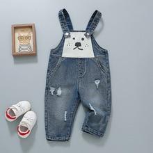 Denim Overalls Jumpsuits Jean Cowboy-Trousers Toddler Baby Children's Cartoon Spring