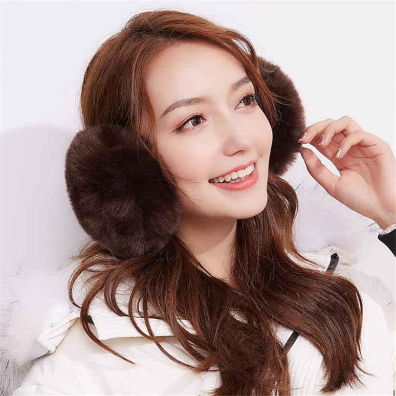 CHSDCSI Warmer Earmuffs Girls Winter Earmuff Fashion Women Fur Ear Muffs Earlap Package Headband Outdoor Earmuff Candy Color