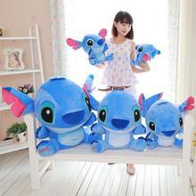 30-95cm Giant Cartoon Kawaii Stitch Plush Doll Toy Anime  figure Stitch Plush Toys for Kids Children Pillow Cute Birthday Gift недорого