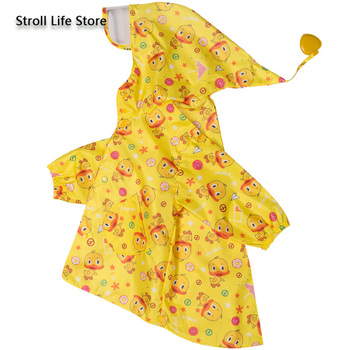 Yellow Duck Raincoat Kids Cute Rain Coat Boots Jacket Waterproof Cartoon Long Umbrella Rain Poncho Hiking Rainwear Impermeable