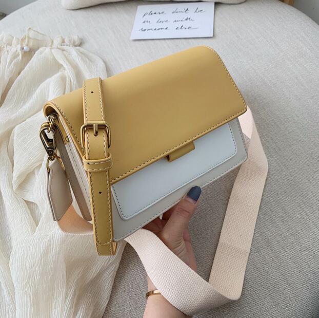 Women's Bag 2020 New fashion small square bag single shoulder cross body bag women's matching color bag|Shoulder Bags| - AliExpress