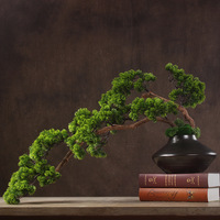 Artificial Pine Tree Potted Chinese Style Floral Design Plantas Artificiais House Plants Bonsai