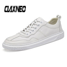 Buy CLAXNEO Man Shoes Genuine Leather Autumn Male Leather Sneakers Fashion Casual Shoe Mens Walking Footwear White directly from merchant!