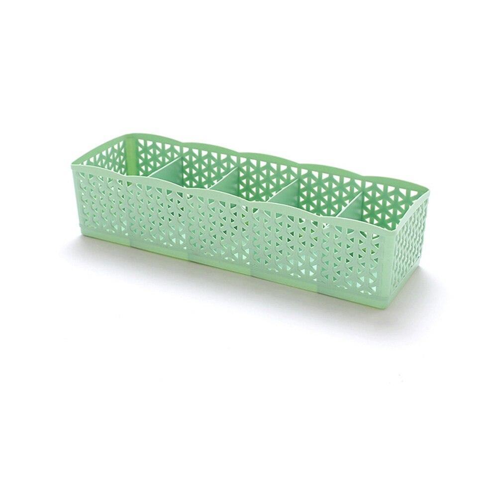 5 Grids Wardrobe Storage Box Basket Organizer Women Men Socks Bra Underwear Storage Box Plastic Container Organizer