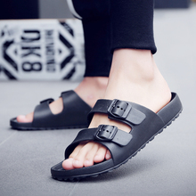 FZNYL Men Slippers EVA Non-slip Outdoor Beach Flip Flops 2020 Summer Casual Shoes Slides Black Sandal Plus Size 40-46