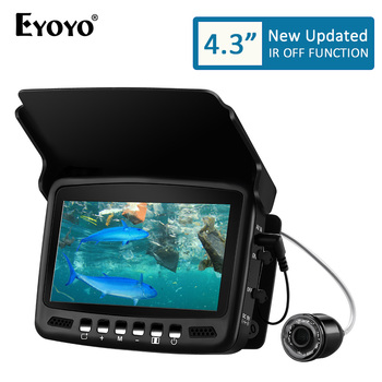 Eyoyo EF43A 20M 1000TVL Fish Finder Underwater Ice Fishing Camera 4.3 LCD Monitor 8PCS LED Night Vision For