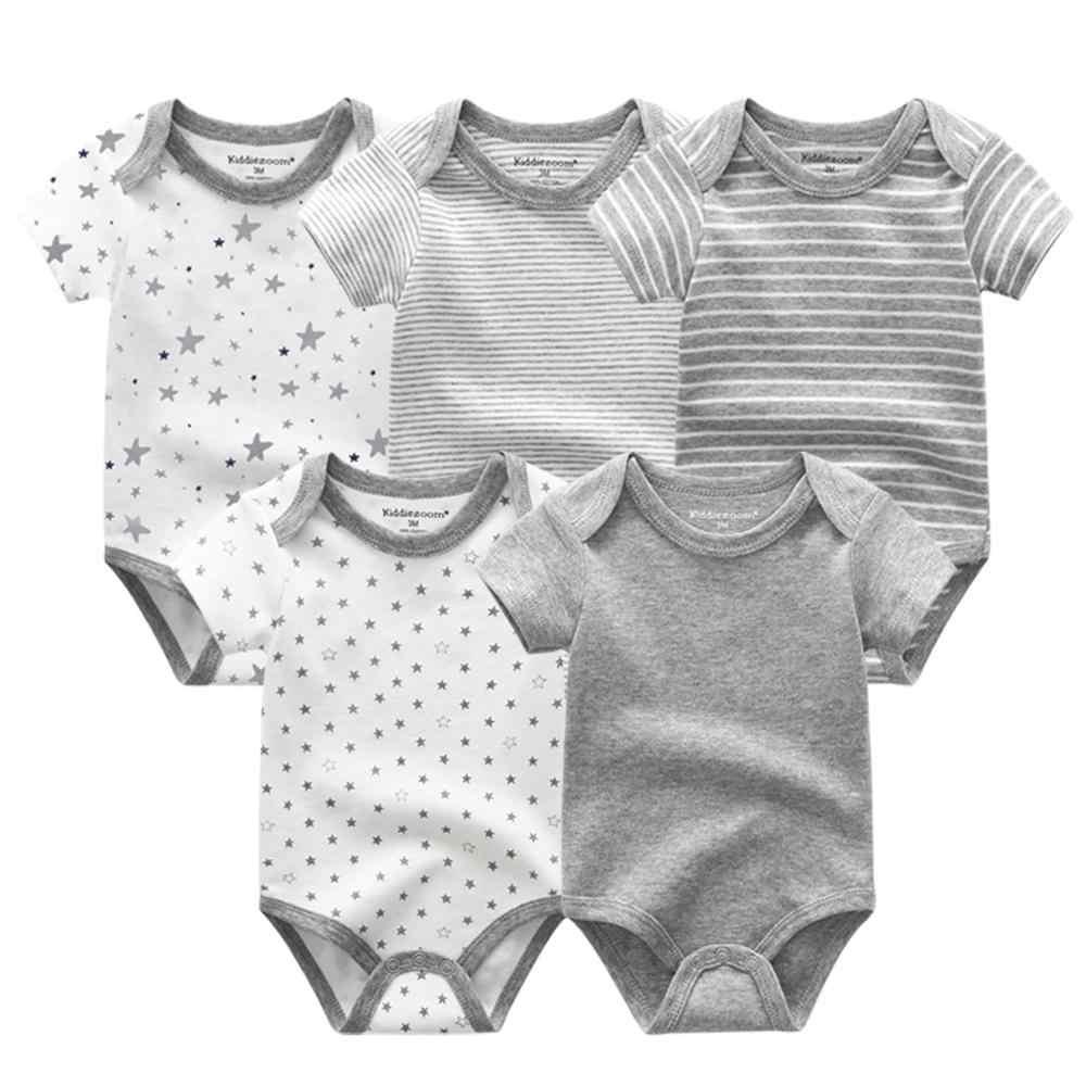 2020 Musim Panas Bayi Pakaian Set Unisex Lengan Pendek Bayi Baru Lahir Baju dan Celana Bayi Katun 3-12M Bayi pakaian