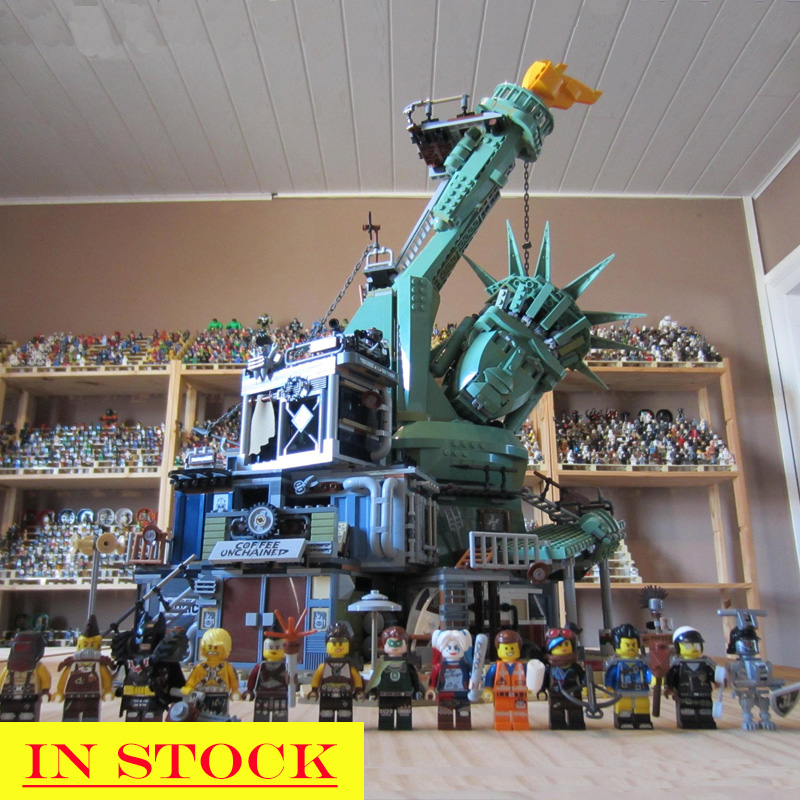 In Stock Welcome to Apocalypseburg 45014 Movie 2 Seies 3178Pcs The Statue Of Liberty Building Blocks Brick Compatible Bela <font><b>70840</b></font> image