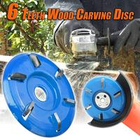 Three/Six Teeth Power Wood Carving Cutter Disc Milling Attachment 90mm Diameter 16mm Bore Arc/Flat for Angle Grinder Attachment|Power Tool Accessories| |  -