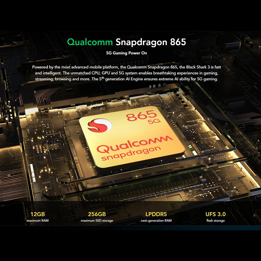 EU Version Xiaomi Black Shark 3 5G Gaming Mobile Phone 6.67
