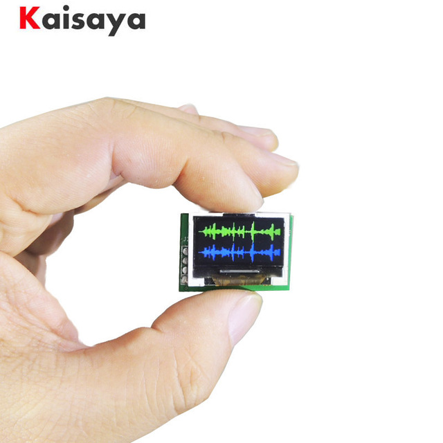 מיני 0.96 אינץ OLED תצוגת ספקטרום מנתח ערוץ כפול צבע מוסיקה ספקטרום תצוגת מודול G4 002