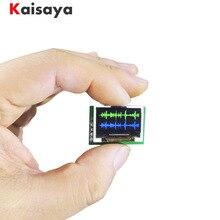 Mini 0.96 Polegada oled spectrum display analyzer duplo canal cor módulo de exibição de espectro de música G4 002