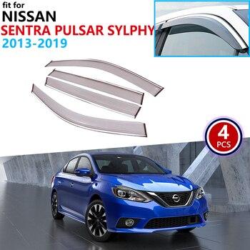 닛산 sentra pulsar sylphy b17 2013 ~ 2019 window visor vent awnings 레인 가드 셸터 액세서리 2014 2015 2016 2017 2018
