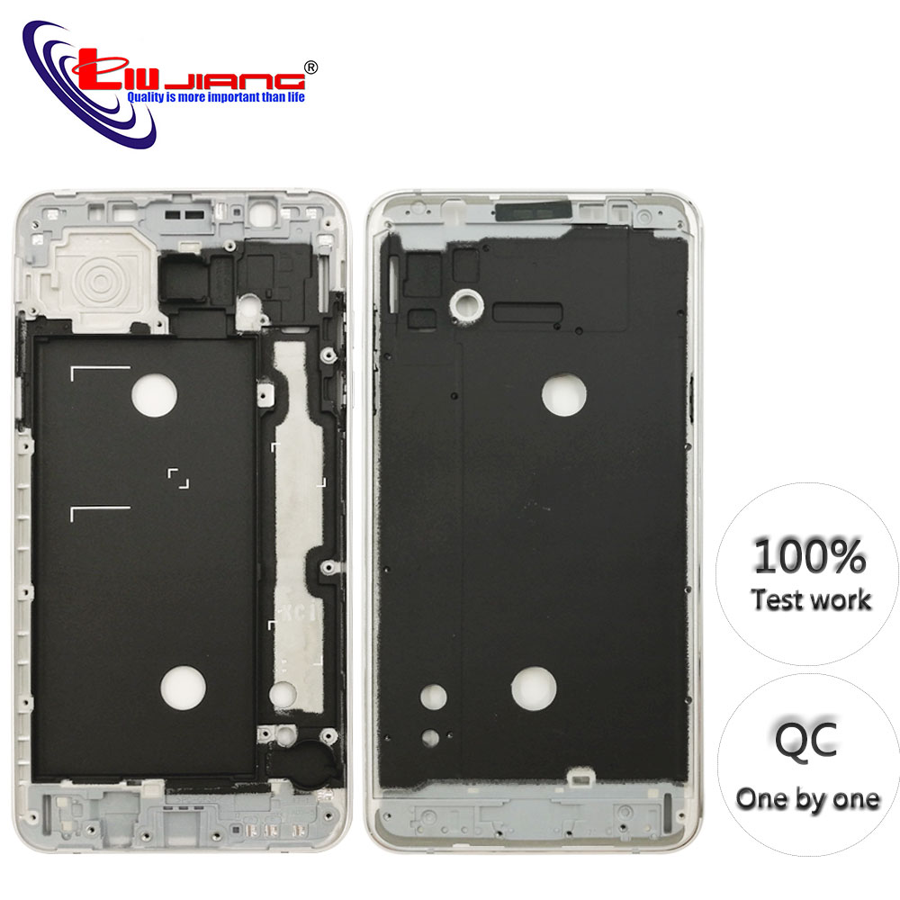 Original Front Frame Housing For Samsung J7 2016 J710F J7108 LCD Panel Middle Frame Bezel Case & Buttons + Adhesive-in Mobile Phone Housings & Frames from Cellphones & Telecommunications