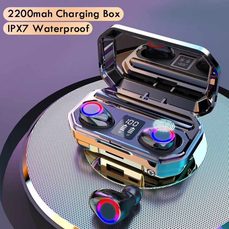 Brezžične bluetooth slušalke z mikrofonom imajo športne - Prenosni avdio in video - Fotografija 1