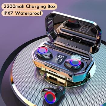 Безжични Bluetooth слушалки с микрофон спортни водоустойчиви безжични слушалки слушалки с докосване музикални слушалки за телефон