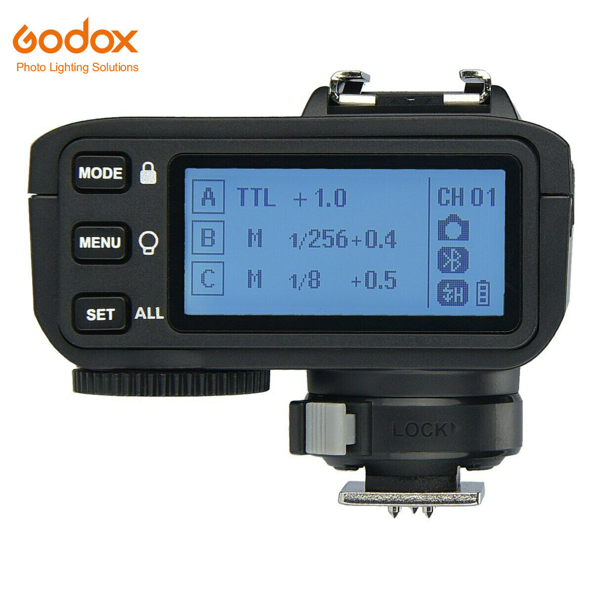 Relocated Control-Wheel Godox X2T-C TTL Wireless Flash Trigger for Canon New AF Assist Light New Hotshoe Locking TCM Function Bluetooth Connection 5 Separate Group Buttons 1//8000s HSS