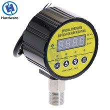 Digital Pressure Gauge Air Compressor Pressure Switch Mpa PSI DC12V DC24V AC220V 1/4'' Thread new and original dpa01m p delta pressure switch pressure gauge switch digital display pressure sensor