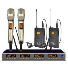 цена на Professional UHF Wireless Microphone System 9000 Handheld Lapel Microphone For Stage Performance School Microphone Wireless
