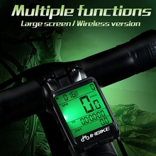 Useful Waterproof Wireless Bike Computer Multifunction MTB Bicycle Cycling Speedometer Stopwatch Odometer with LED Digital Rate enkeeo bkv 1537 wireless bicycle computer stopwatch bike speedometer 2 4g transmission with cadence sensor bikes odometer