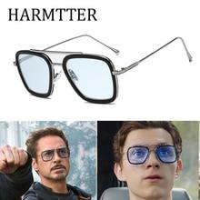 Роскошные модные Мстители, стиль Тони Старк, для женщин, мужские солнцезащитные очки, квадратные, фирменный дизайн, солнцезащитные очки Oculos, Ретро стиль, мужские, Железный человек