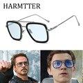 Moda de luxo vingadores tony stark estilo para mulher óculos de sol dos homens quadrados design da marca óculos de sol oculos retro masculino homem de ferro
