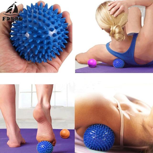FDBRO Per Il Fitness PVC Mano Sfera di Massaggio PVC Suole Hedgehog Sensoriale Formazione Afferrare la Palla Portatile Fisioterapia Palla 6.5 Libera La Nave 2