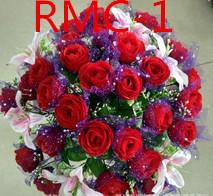 Akcesoria ślubne gospodarstwa kwiaty 3303 RMC tanie i dobre opinie Bukiet ślubny