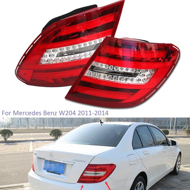 YTCLIN Rear Tail Light For Mercedes Benz W204 C180 C200 C220 C260 C280 C300 2011-2014 Rear Bumper Light Stop Lamp Brake Light