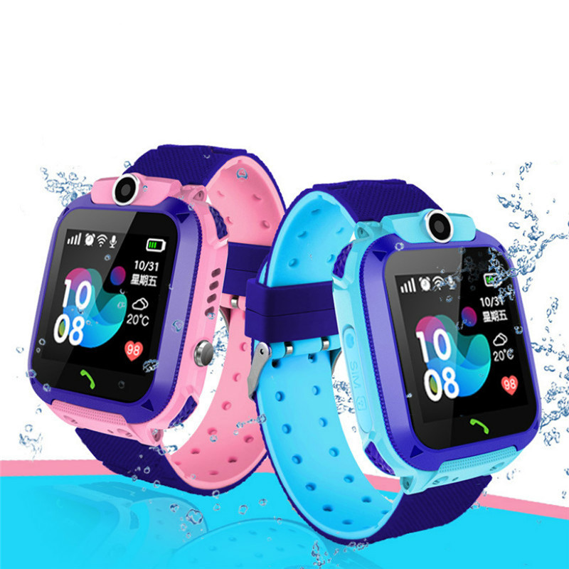 Kids Smart Watch Children Phone IP67 Waterproof SOS Anti-lost LBS Location Tracker 2G SIM Card Camera Smartwatch Birthday Gift