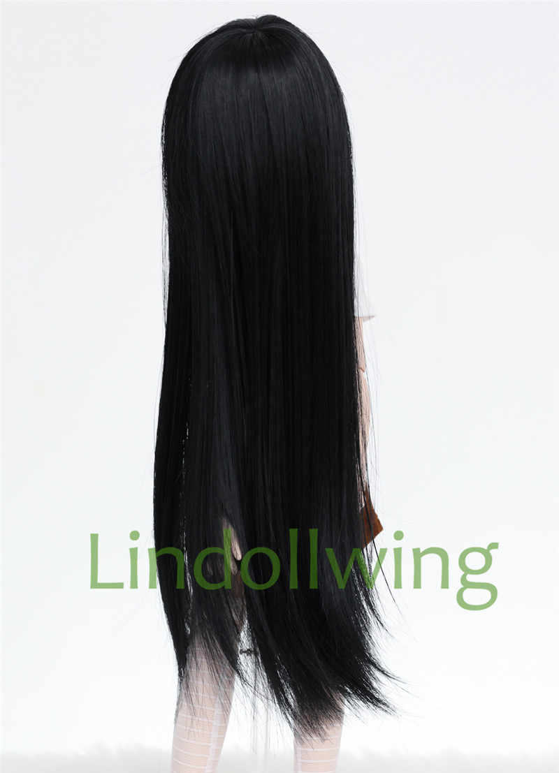 1/3 BJD perruque Pullip Dal DD SD LUT Dollfie poupée perruque haute température cheveux 8-9 pouces longue perruque cheveux noirs