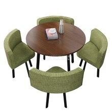 90 см 4 человек журнальный столик со стулом сочетание переговоров стол для приема набор питьевой магазин Досуг Круглый/квадратный чайный столик