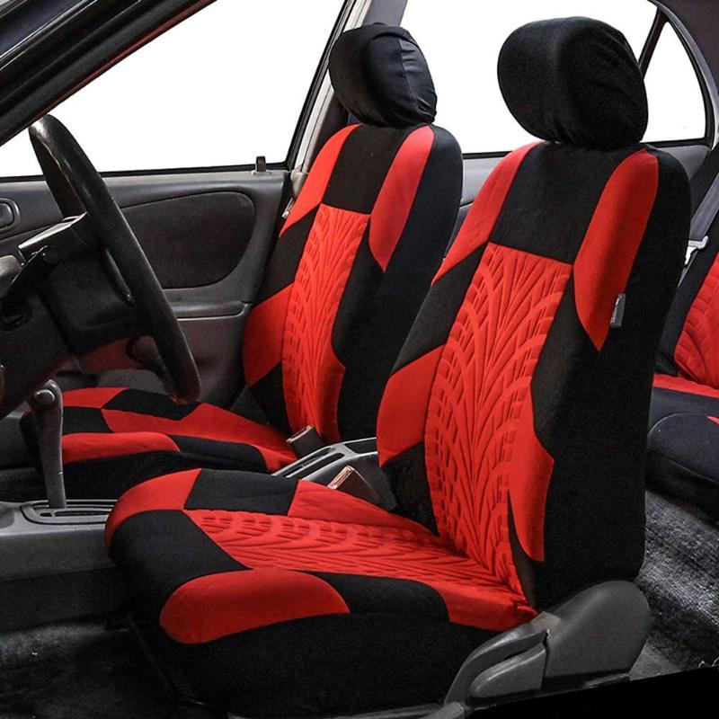 2/4/9 pièces ensemble de couverture de siège de voiture universel de haute qualité personnalité pneu piste épissage Auto accessoires de style accessoires intérieurs