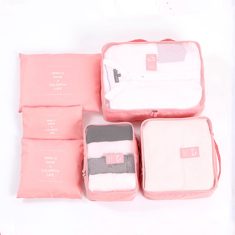 6Pcs Set Unicorn Storage Bag Clothes Shoe Make Up Flamingo Organizer Bag Pouch Suitcase Home Closet Bags Travel Accessories