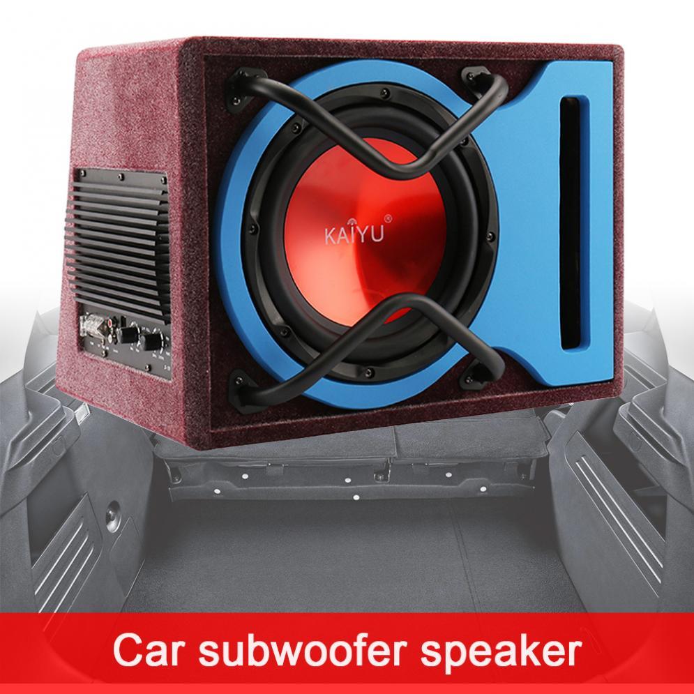 10 Cal 600W ze stopu aluminium uniwersalny bardzo niskie częstotliwości głośnik samochodowy aktywny Subwoofer Surround Stereo głośnik