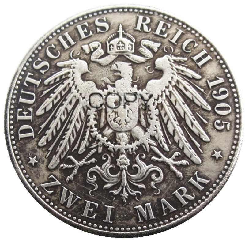 גרמניה בוואריה 2 סימן מלא סט (1891-1913) 11pcs כסף מצופה עותק מטבעות